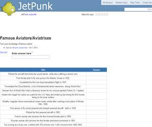 Famous Aviators/Aviatrixes