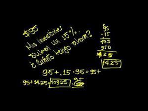 Problemas Porcentajes 2 (Khan Academy Español)