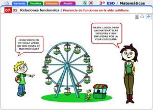 Presencia de funciones en la vida cotidiana. Matemáticas para 3º de Secundaria