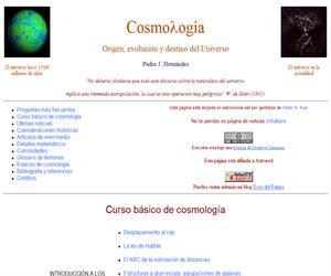 Cosmología Astrofísica, origen, evolución y destino del Universo