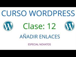 WordPress Novatos | Clase 12 | Añadir enlaces