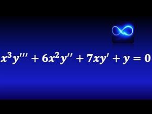 Ecuación diferencial de Cauchy Euler de tercer orden, raíces repetidas. Ejercicio resuelto.