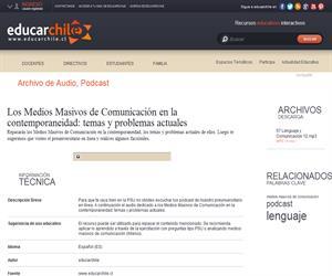 Los Medios Masivos de Comunicación en la contemporaneidad: temas y problemas actuales (Educarchile)