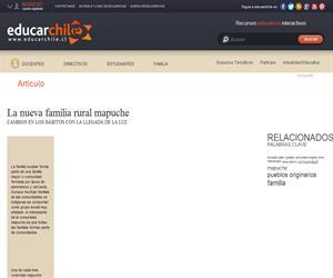 La nueva familia rural mapuche (Educarchile)