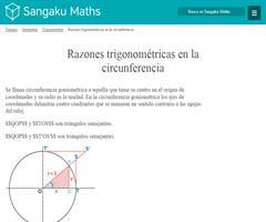 Razones trigonométricas en la circunferencia