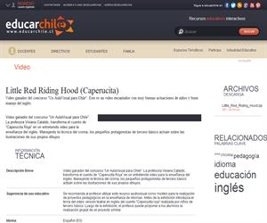 Concurso de docentes: Little Red Riding Hood -Caperucita) (Educarchile)