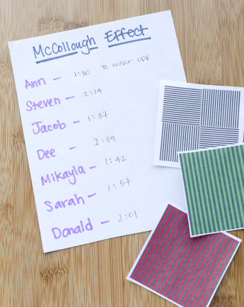 Studying Visual Trickery with the McCollough Effect