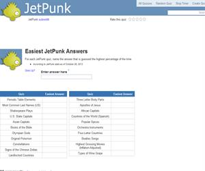 Easiest JetPunk Answers