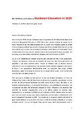 Intervención de Almudena Rodríguez Tarodo en el panel Business Education