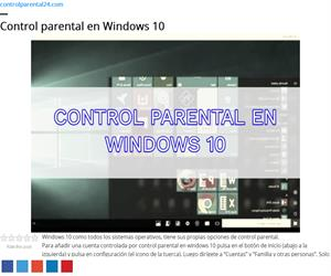 Control Parental Windows 10 - Guía para aprender a configurarlo en 2019