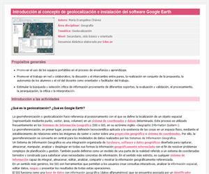 Introducción al concepto de geolocalización e instalación del software Google Earth