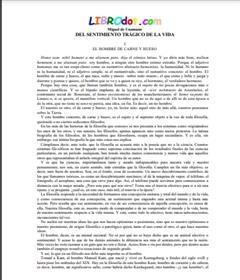 Miguel de Unamuno. Del sentimiento trágico de la vida (Educarchile)