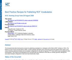 Best Practice Recipes for Publishing RDF Vocabularies