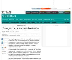 Bases para un nuevo modelo educativo, por Antonio Vaquero | El País