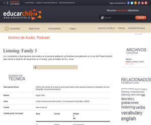 Listening: Family 3 (Educarchile)