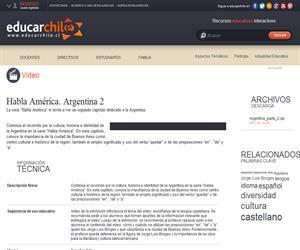 Habla América. Argentina 2 (Educarchile)