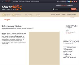 Telescopio de Galileo (Educarchile)