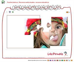 Puzzle básico. Juego on-line para Educación Infantil