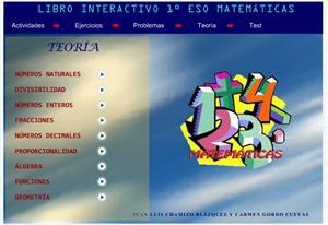 Libro interactivo de Matemáticas de 1º de la ESO
