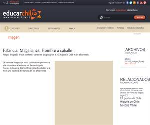 Estancia, Magallanes. Hombre a caballo (Educarchile)