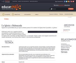 La Iglesia y Balmaceda (Educarchile)
