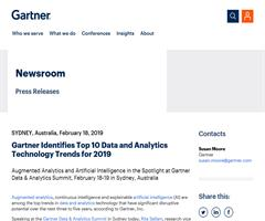 Gartner sitúa Graph Analytics entre las cinco primeras tendencias tecnológicas en 2019