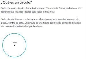 Objetos y formas geométricas. Radio y diámetro. Editorial Anaya