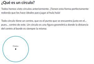 Radio, diámetro y circunferencia