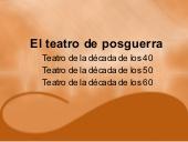 El teatro de posguerra