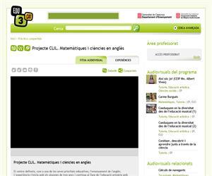 Projecte CLIL. Matemàtiques i ciències en anglès (Edu3.cat)