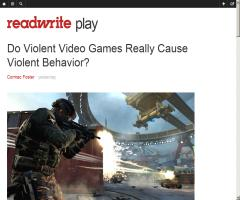 Do Violent Video Games Really Cause Violent Behavior? | ReadWrite