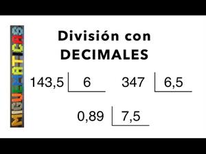 Aritmética : Divisiones con números decimales