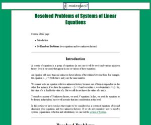 Resolved Problems of Linear Equation Systems