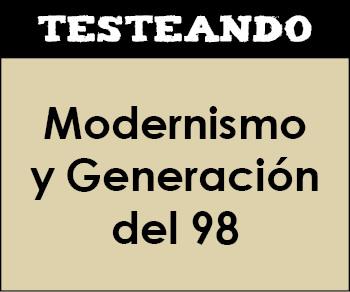 Modernismo y Generación del 98. 4º ESO - Literatura (Testeando)