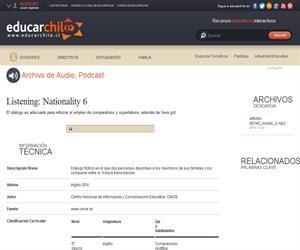Listening: Nationality 6 (Educarchile)