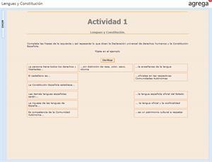 Lenguas y Constitución. Un ejercicio de lenguaje (Proyecto Agrega)