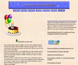 La web de Antonia Ortega, recursos educativos para educación especial