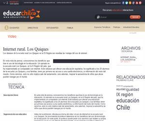 Internet rural. Los Quiques (Educarchile)
