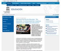 Sin docentes, no alcanzaremos nuestros objetivos en materia de educación. Semana de Acción Mundial 2013
