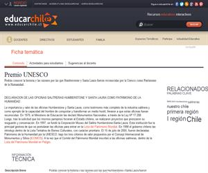 1era Región Humberstone Premio Unesco (Educarchile)