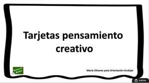 Tarjetas de Pensamiento Creativo