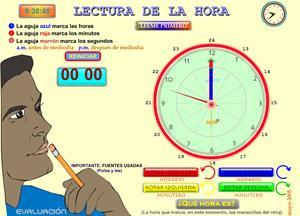 Aprendemos la hora. Matemáticas para Primaria