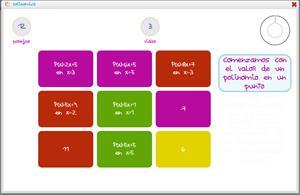 Polinomics: juego de matemáticas para practicar con polinomios