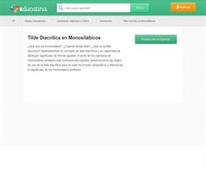 LA TILDE DIACRÍTICA. ACENTUACIÓN DE MONOSÍLABOS.