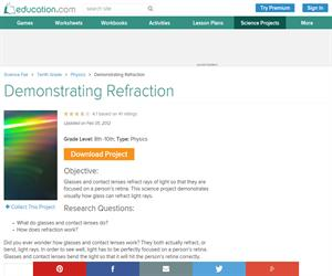 Demonstrating Refraction
