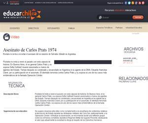 Asesinato de Carlos Prats 1974 (Educarchile)