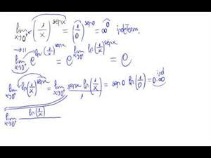 Regla de l'Hopital (infinito elevado a 0)