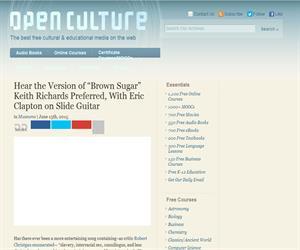 Open Culture, una guía de gratuita de materiales educativos multimedia