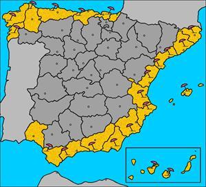 Costas de España, en mapa flash interactivo (luventicus.org)
