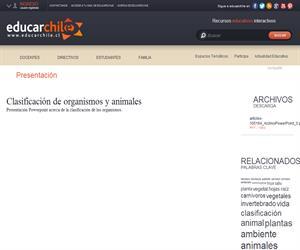 Clasificación de organismos y animales (Educarchile)